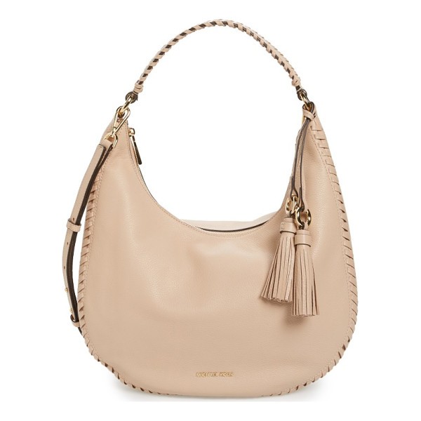 MICHAEL MICHAEL KORS large lauryn leather hobo - Chunky whipstitching and a pair of lush, ring-anchored...