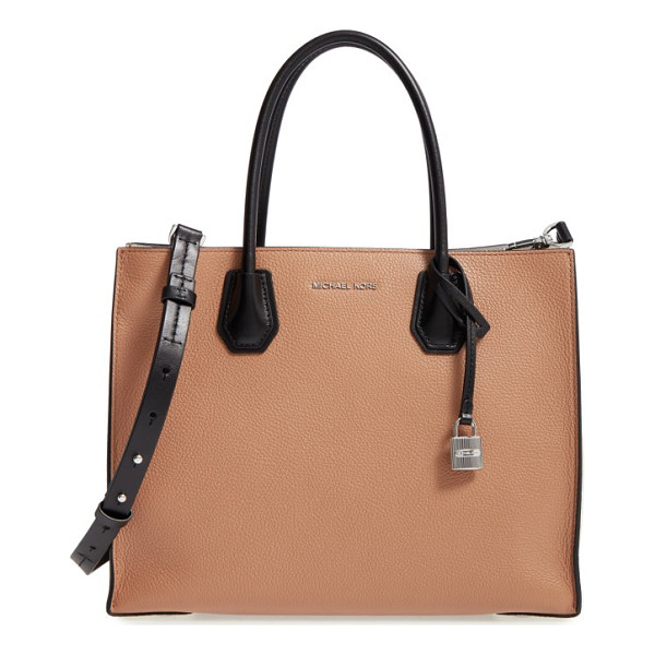 MICHAEL MICHAEL KORS large mercer colorblock leather tote - An optional, adjustable strap and rolled top handles make...