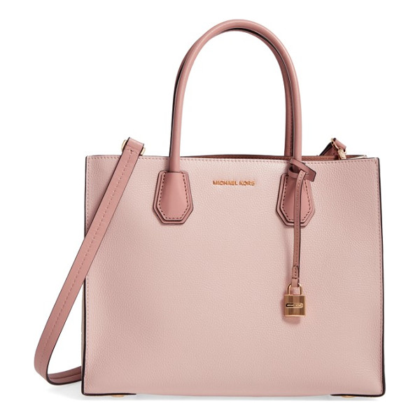 MICHAEL MICHAEL KORS large mercer convertible tote - An optional, adjustable strap adds versatility to a