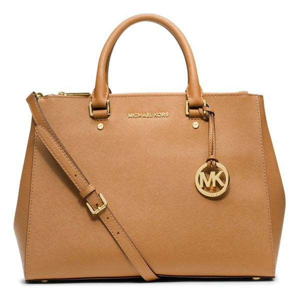 MICHAEL MICHAEL KORS Large sutton satchel - High-shine logo letters finish a sophisticated, lightly...