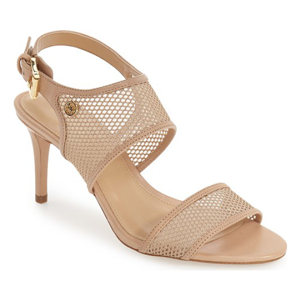 MICHAEL MICHAEL KORS leilah slingback mesh sandal - Semi-opaque mesh panels adorn the toe strap and instep of...