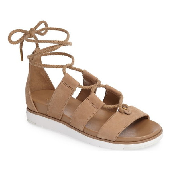 MICHAEL MICHAEL KORS mckenna ghillie wedge sandal - Braided ghillie lacing bridges the leather straps of a...