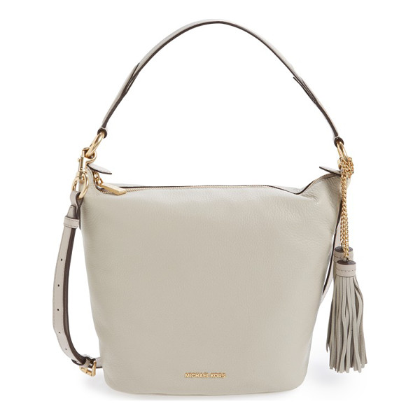 MICHAEL MICHAEL KORS Medium elana convertible leather shoulder bag - An easy over-the shoulder bag with swishy chain-anchored...