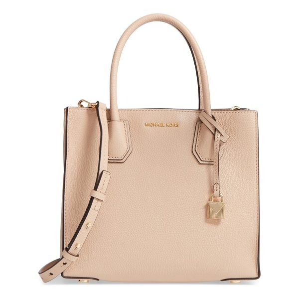 MICHAEL MICHAEL KORS 'medium mercer' leather tote - A center zip divider pocket adds convenience to the smart,...
