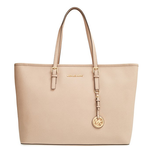MICHAEL MICHAEL KORS Medium multifunction tote - Richly textured Saffiano leather sculpts a versatile tote...