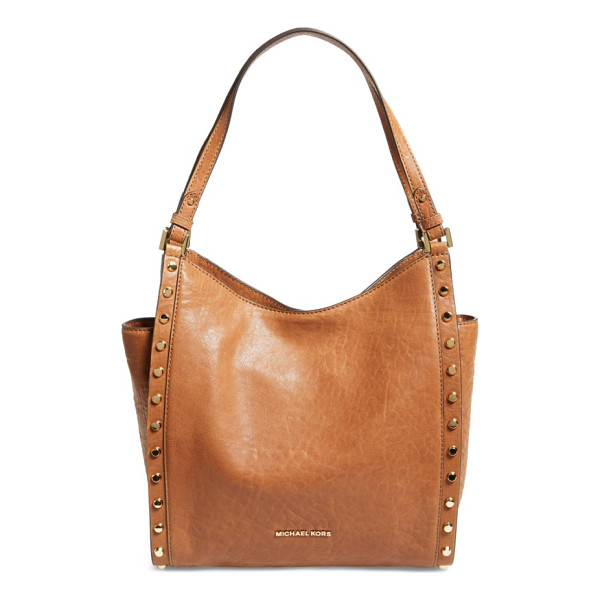 MICHAEL MICHAEL KORS medium newbury leather tote - Gleaming disc studs add edgy polish to a poised,...