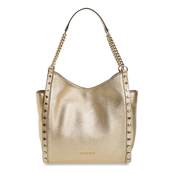 MICHAEL MICHAEL KORS medium newbury leather tote - A poised, pebbled-leather tote is designed with expandable