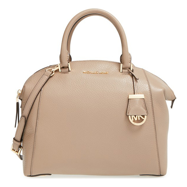 MICHAEL MICHAEL KORS Medium riley satchel - A slightly flared silhouette adds a poised, modern element...