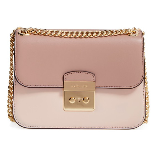 MICHAEL MICHAEL KORS medium sloan editor shoulder bag - Two-tone colorblocking refines and modernizes an impeccably