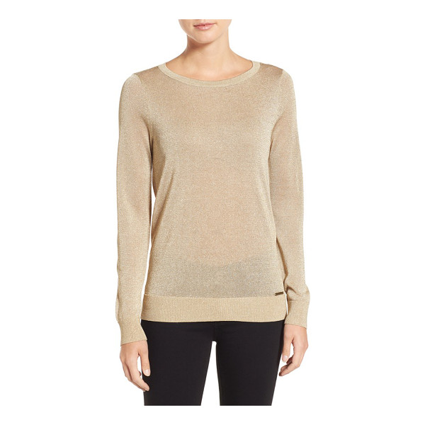 MICHAEL MICHAEL KORS metallic drape back sweater - A shimmering sweater presents a demure front while drama...