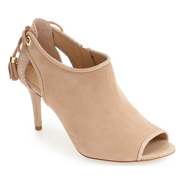 MICHAEL MICHAEL KORS peep toe bootie - Tiny tassels detailed with logo-etched hardware pair with a...