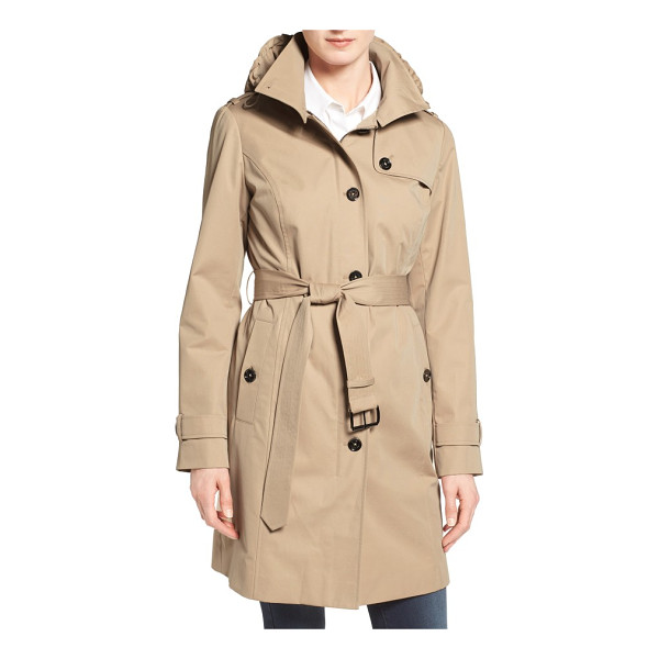 MICHAEL MICHAEL KORS hooded trench coat - A clean, single-breasted design brings a dash of modern...
