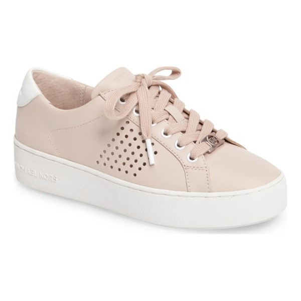 MICHAEL MICHAEL KORS poppy platform sneaker - Perforated side detailing and metallic logo elements on the...