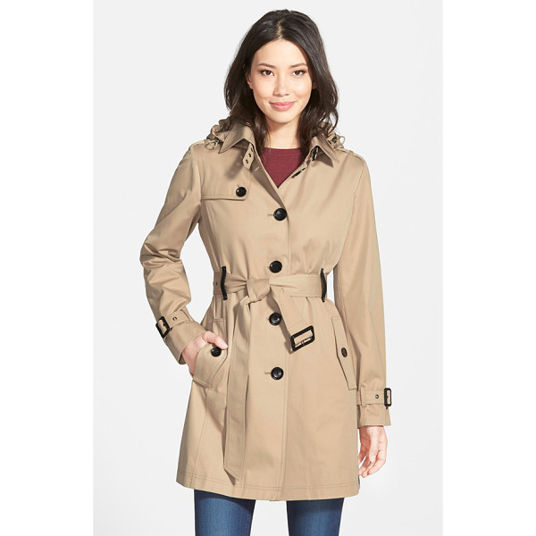 MICHAEL MICHAEL KORS single breasted raincoat - Timeless trench styling defines a single-breasted raincoat...