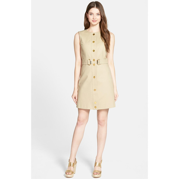 MICHAEL MICHAEL KORS sleeveless d-ring sheath dress - Perfect polish for summer days at the office, a slim...