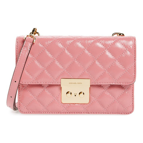 MICHAEL MICHAEL KORS Sloan small crossbody bag - Polished hardware adds sophistication to a streamlined...