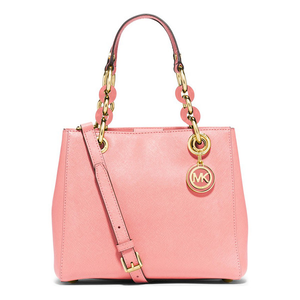 MICHAEL MICHAEL KORS Small cynthia satchel - Gleaming, logo-embossed hardware and mixed-link chain...