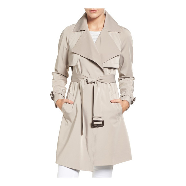 MICHAEL MICHAEL KORS trench coat - An oversized collar brings face-framing elegance to a...