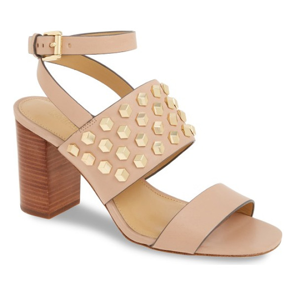 MICHAEL MICHAEL KORS valencia sandal - Cubic hardware adds eye-catching dimension to a...