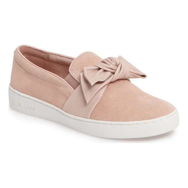 MICHAEL MICHAEL KORS willa sneaker - A knotted bow adds texture and dimension to this casually...