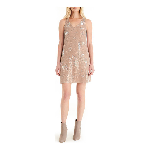 MICHAEL STARS sequin mini dress - Shimmering sequins cover a slinky tank dress in a...