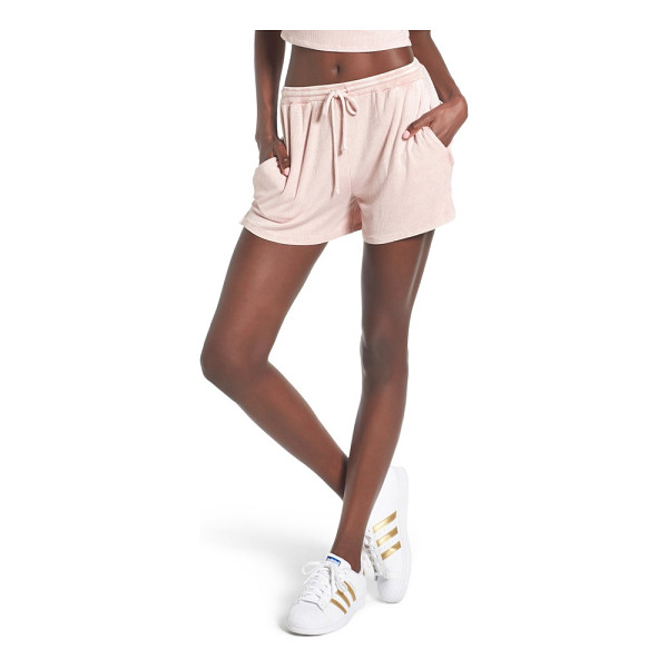 MICHELLE BY COMUNE olney shorts - Drawstring shorts in supersoft ribbed jersey are comfy...