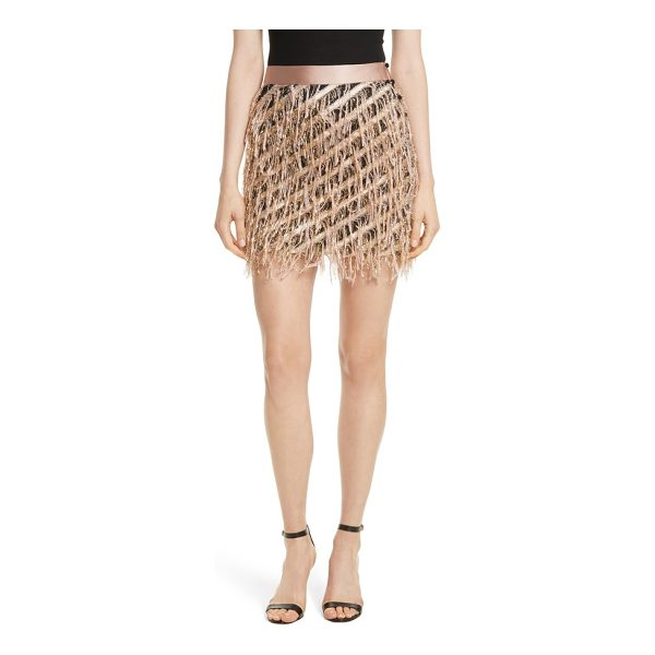 MILLY fil coupe diagonal stripe miniskirt - The frayed edges of diagonal stripes create a festive...