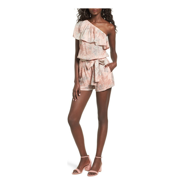 MIMI CHICA ruffle one-shoulder romper - Flirty and feminine, this leg-flaunting romper is prettied...