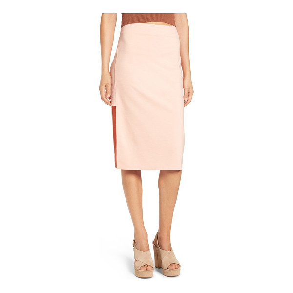 MINKPINK moon child cutout midi skirt - Geometric side cutouts relax the silhouette of a...