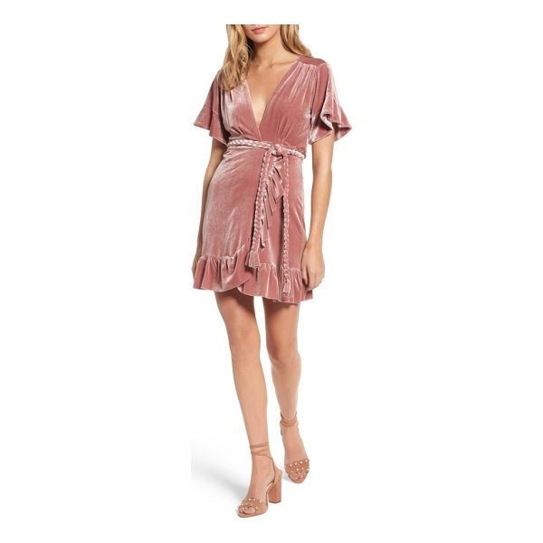 MISA desma velvet wrap dress - Plush and drapey velvet is cut into a sassy ruffled wrap...