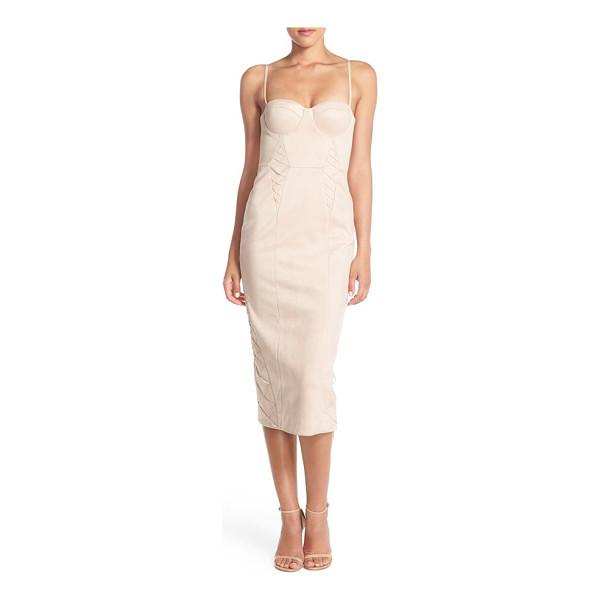 MISHA COLLECTION leia faux suede midi dress - A saucy take on the classic cocktail dress, this chic midi...