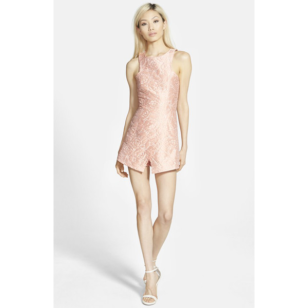 MISSGUIDED asymmetrical floral romper - A floral satin design textures this romper featuring a...