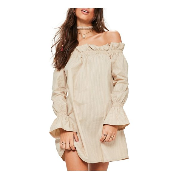 MISSGUIDED bardot off the shoulder print shift dress - Channel your favorite romantic heroine (mixed with...