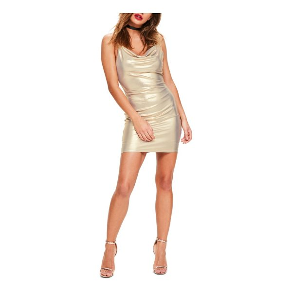 MISSGUIDED body-con dress - Look no further for a total knockout look-this cowl-neck...