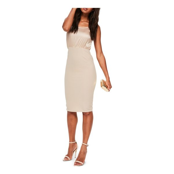 MISSGUIDED body-con dress - Steal the spotlight in a silky slipdress that takes on this...