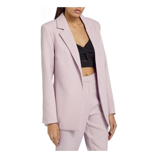 MISSGUIDED boyfriend blazer - The longer, slightly oversized fit of this polished blazer...