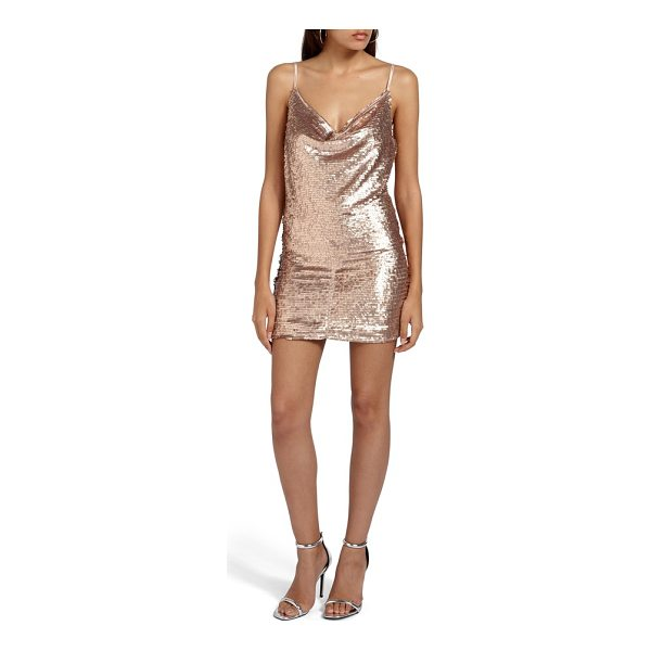 MISSGUIDED cami cowl neck sequin minidress - Steal the spotlight in a slinky sequined minidress that...