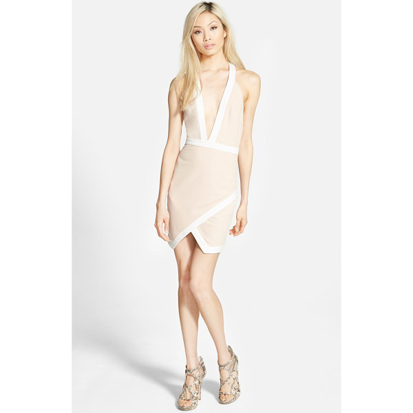 MISSGUIDED contrast halter body-con dress - Contrast trim traces the edges of a halter-style body-con...