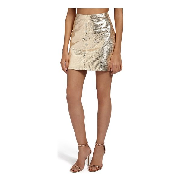 MISSGUIDED crackled metallic miniskirt - Reflect every spotlight pointed your way in this retro-glam...