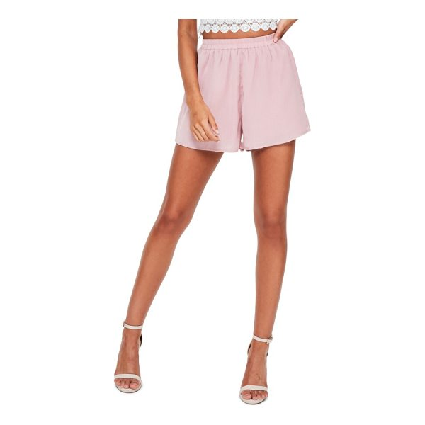 MISSGUIDED elastic waist crepe shorts - You have places to be, and the easy elastic waist of these...