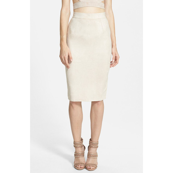 MISSGUIDED faux suede midi skirt - A body-con midi skirt cut from soft faux suede embodies...