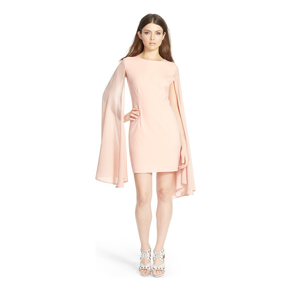 MISSGUIDED flare sleeve crepe dress - Billowy, flared extensions flow from the shoulders of a...