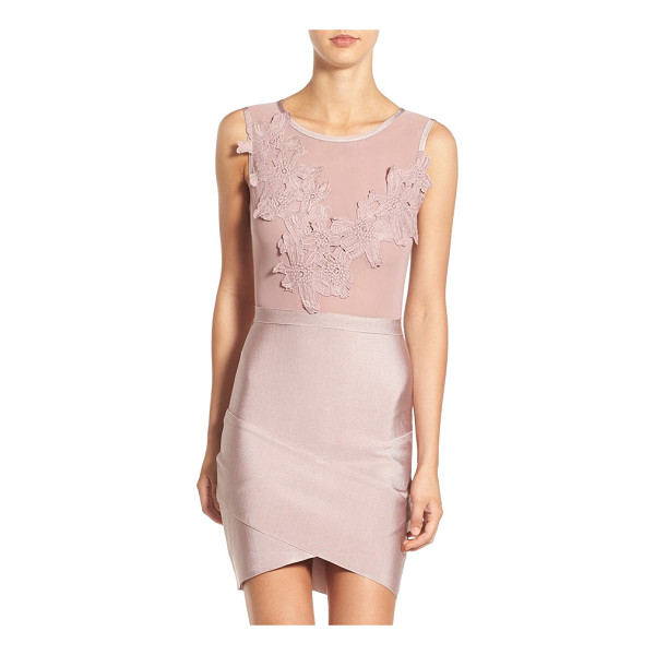 MISSGUIDED floral applique body-con dress - Made with romantic floral appliques and a super-slim skirt...