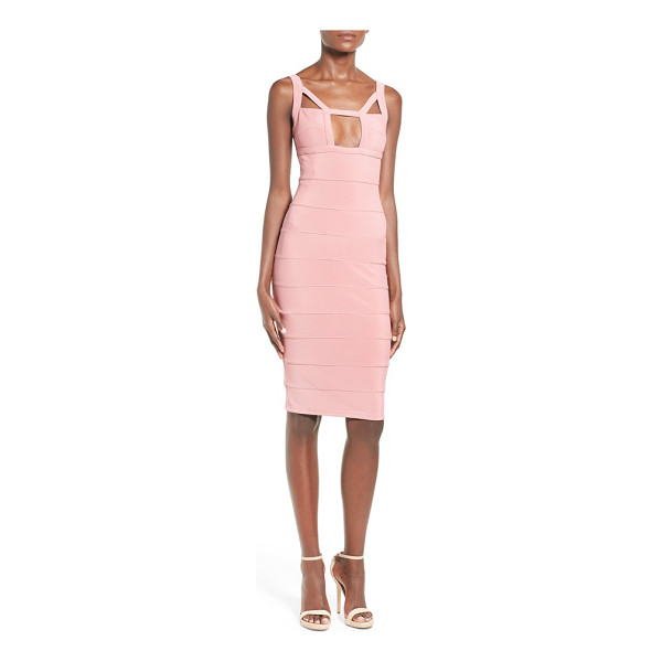 MISSGUIDED geo cutout bandage dress - A square, decolletage-flaunting keyhole and triangular...