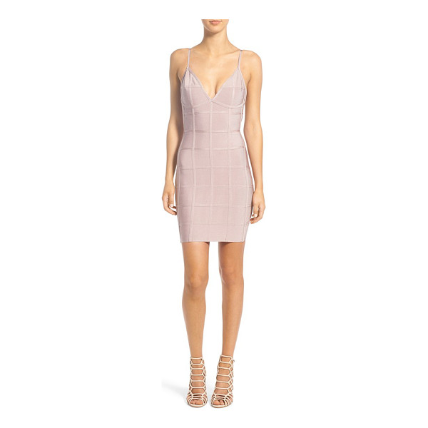MISSGUIDED grid bandage dress - Ideal for girls' nights out, a curve-hugging bandage dress...