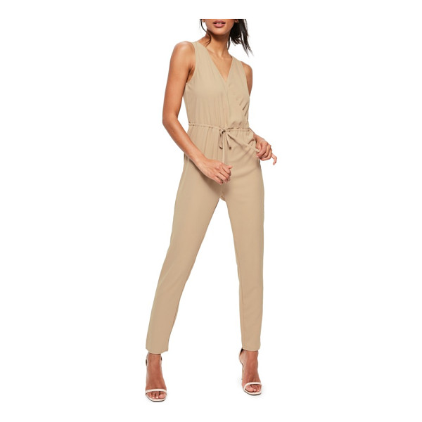 MISSGUIDED jumpsuit - Make a laid-back entrance at your next party in this...