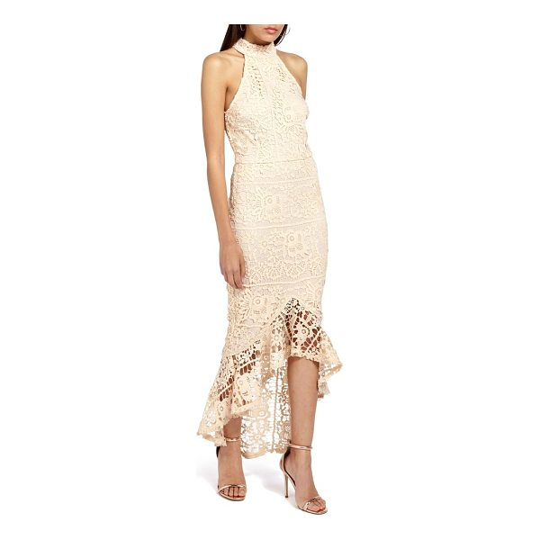 MISSGUIDED lace body-con dress - A lace fishtail hem dramatically punctuates every move you...