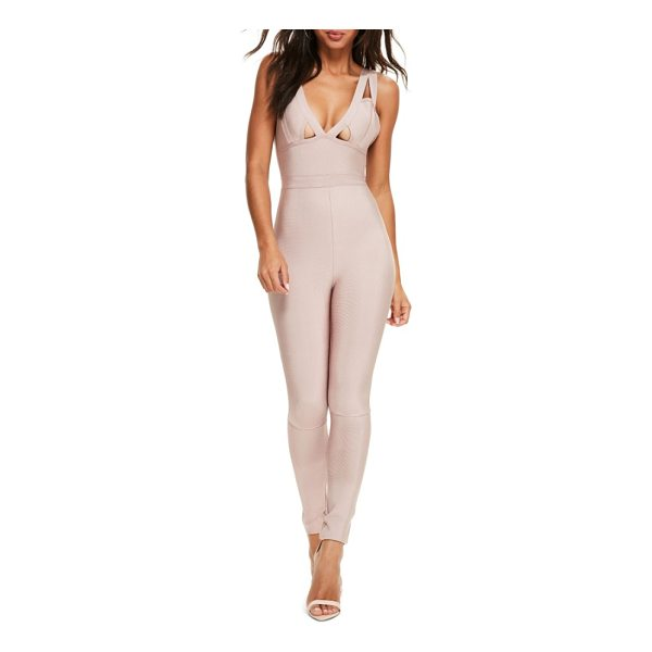 MISSGUIDED premium bandage jumpsuit - Pieced together and so on-point, this body-hugging jumpsuit...
