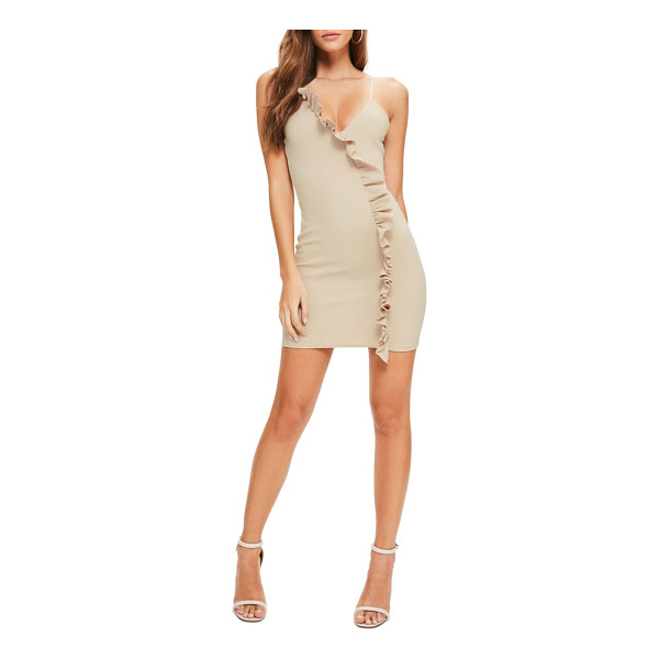 MISSGUIDED ruffle body-con dress - Take ruffles from sweet and girly to club-dancing sassy...