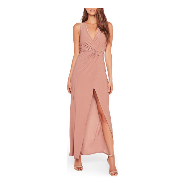 MISSGUIDED surplice split hem maxi dress - A wrap-style maxi dress cut from slinky fabric in the...